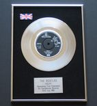 THE BEATLES - HELP! PLATINUM single presentation DISC